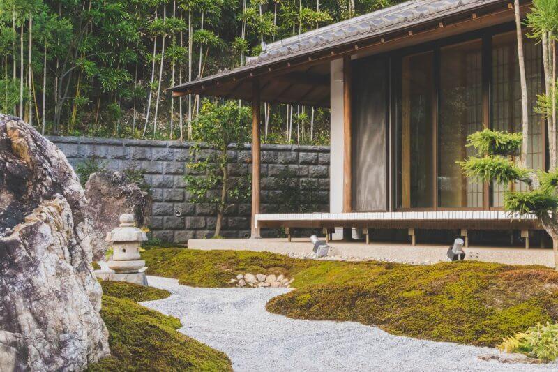 Minimalistic landscape of a modern home